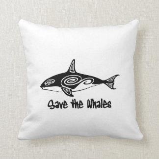 Ahorre las ballenas almohadas