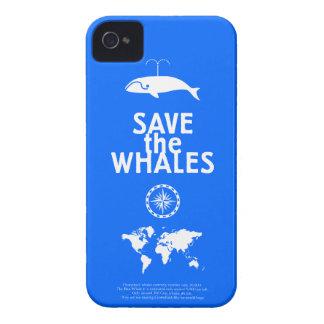 Ahorre las ballenas iPhone 4 cárcasas