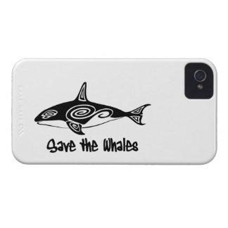 Ahorre las ballenas Case-Mate iPhone 4 coberturas