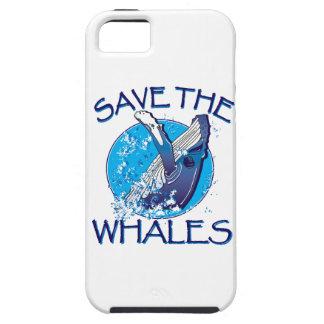 Ahorre las ballenas iPhone 5 protectores