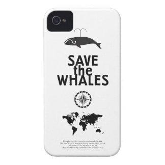 Ahorre las ballenas Case-Mate iPhone 4 funda