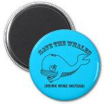 Ahorre las ballenas imanes para frigoríficos