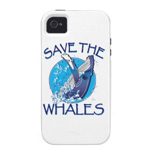 Ahorre las ballenas iPhone 4/4S funda