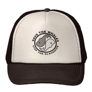 Ahorre las ballenas - los derechos de los animales gorras