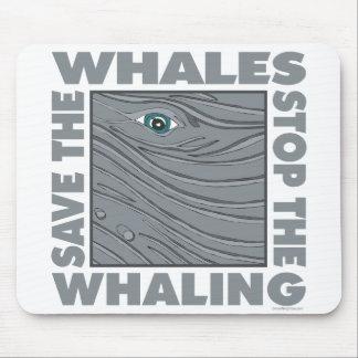 Ahorre las ballenas mouse pads