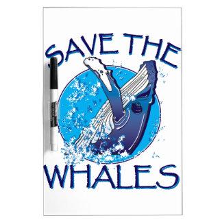 Ahorre las ballenas pizarras