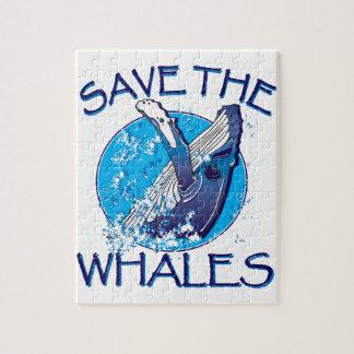 Ahorre las ballenas rompecabeza con fotos