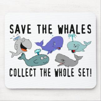 Ahorre las ballenas recogen el sistema del conjunt alfombrillas de ratones