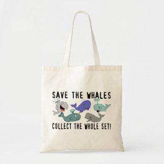 Ahorre las ballenas recogen el sistema del conjunt bolsa tela barata