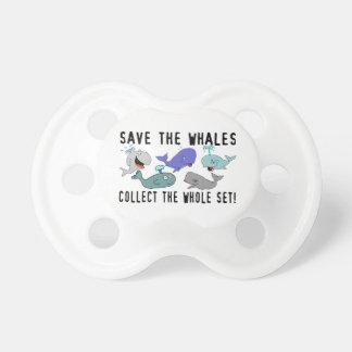 Ahorre las ballenas recogen el sistema del conjunt chupetes de bebé