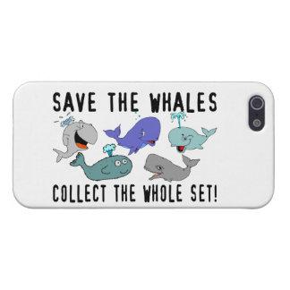 Ahorre las ballenas recogen el sistema del conjunt iPhone 5 cobertura
