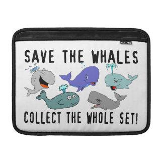 Ahorre las ballenas recogen el sistema del conjunt fundas macbook air