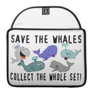 Ahorre las ballenas recogen el sistema del conjunt fundas macbook pro