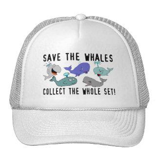 Ahorre las ballenas recogen el sistema del conjunt gorras