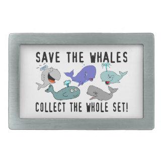 Ahorre las ballenas recogen el sistema del conjunt hebillas de cinturon rectangulares