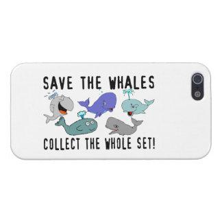 Ahorre las ballenas recogen el sistema del conjunt iPhone 5 funda
