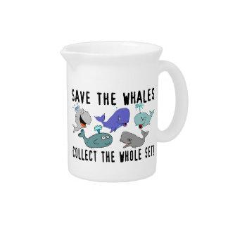 Ahorre las ballenas recogen el sistema del conjunt jarras de beber