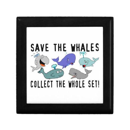 Ahorre las ballenas recogen el sistema del conjunt joyero cuadrado pequeño