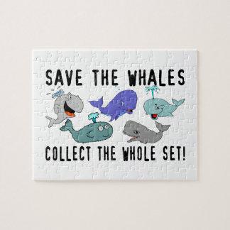 Ahorre las ballenas recogen el sistema del conjunt puzzles