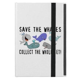 Ahorre las ballenas recogen el sistema del iPad mini carcasas