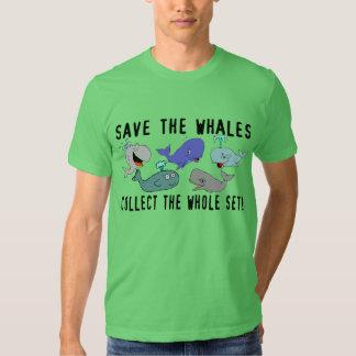 Ahorre las ballenas recogen el sistema del remera