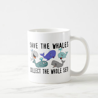 Ahorre las ballenas recogen el sistema del taza clásica