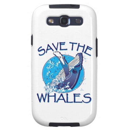 Ahorre las ballenas samsung galaxy SIII funda