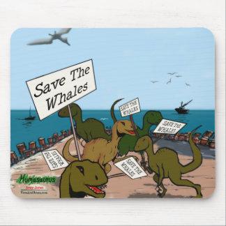 Ahorre las ballenas tapete de ratón