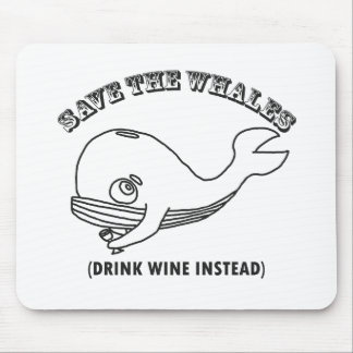 Ahorre las ballenas alfombrilla de ratón