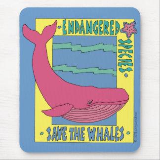 Ahorre las ballenas tapetes de raton