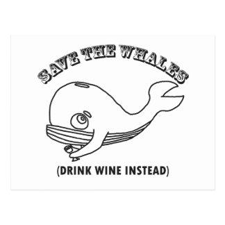 Ahorre las ballenas tarjeta postal