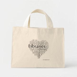 Ahorre las bibliotecas 5 bolsa de tela pequeña
