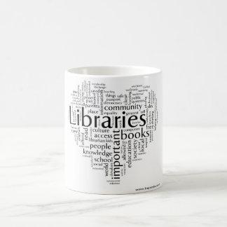 Ahorre las bibliotecas 5 taza de café