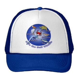 Ahorre las camisetas de la fauna del golfo gorros bordados