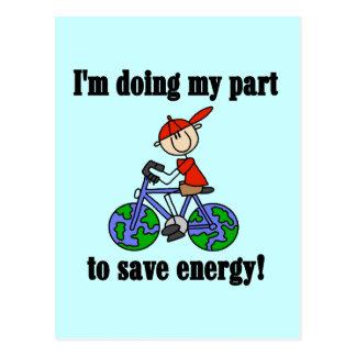 Ahorre las camisetas y los regalos ambientales de tarjetas postales