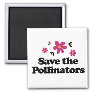 Ahorre las donadoras de polen imán cuadrado