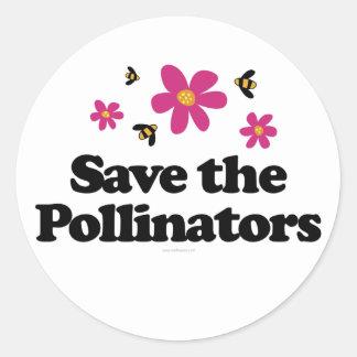 Ahorre las donadoras de polen pegatina redonda