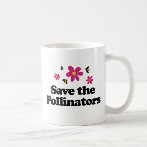 Ahorre las donadoras de polen taza básica blanca