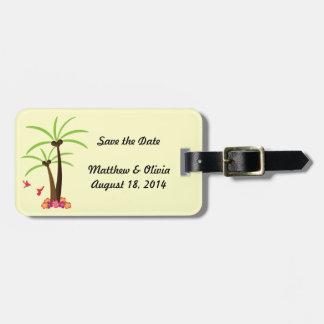 Ahorre las etiquetas del boda de la fecha etiquetas maletas