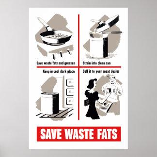 Ahorre las grasas inútiles posters