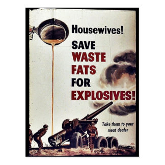 ¡Ahorre las grasas inútiles para los explosivos Postales