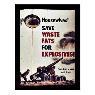 ¡Ahorre las grasas inútiles para los explosivos Postal