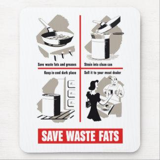 Ahorre las grasas inútiles alfombrillas de raton