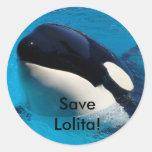 Ahorre las hojas del pegatina de Lolita