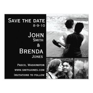 Ahorre las invitaciones adaptables del boda de las invitación 10,8 x 13,9 cm