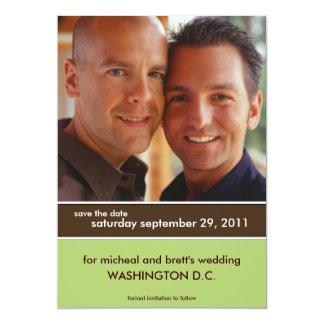 Ahorre las invitaciones del boda de la fecha {el invitación 12,7 x 17,8 cm