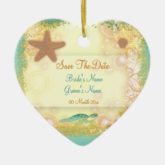 Ahorre las invitaciones del ornamento de la fecha ornamento para arbol de navidad