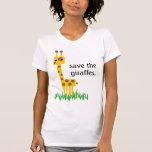 ahorre las jirafas camisetas