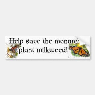 Ahorre las mariposas de monarca - pegatina para el etiqueta de parachoque