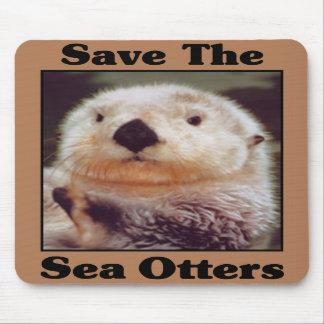 Ahorre las nutrias de mar alfombrilla de raton